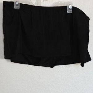 Women's 18 Cacique Black Swim Bikini Bottom Skirt